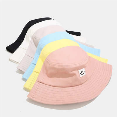 Summer Hat Women Mens Panama Hat Hat Smile Face Design Flat Sun Visor Fishing Ngư dân Hat Chapeau Femmes Hip Hop